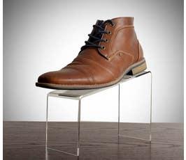 "Beveled Edge Clear Acrylic Shoe Riser - 5"""