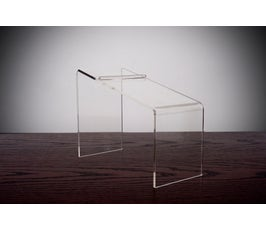 Beveled Edge Clear Acrylic Shoe Riser - 7""