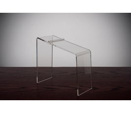 Beveled Edge Clear Acrylic Shoe Riser - 9""