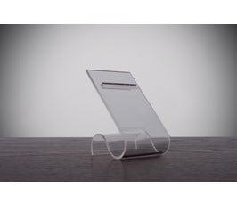 Acrylic Shoe Rest, Slanted with Beveled Edge for Single Display