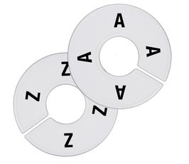 Plastic Size Dividers - Round White - A-Z Count