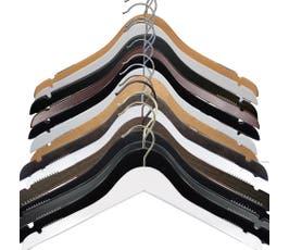 NAHANCO Wooden Shirt Hangers, Select Options