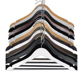 Wooden Suit Hangers - NAHANCO - Select Options