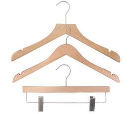 NAHANCO Wood Clothes Hanger Kit - Low Gloss Beech