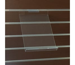 "Acrylic Slanted Shoe Displayer for Slatwall, 7""W x 10""H"