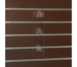 "Acrylic Eyewear Display for Slatwall, 3 Pairs, 11 ¾""L"
