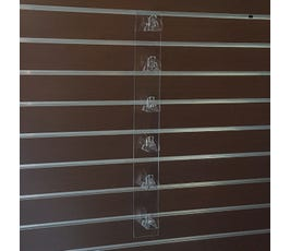 "Acrylic Eyewear Display for Slatwall, 6 Pairs, 23 ¾""L"