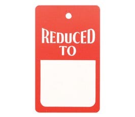 """Reduced To"" Tags - Strung - Red/White"