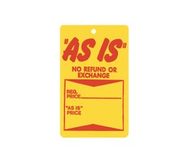 """As Is"" Tags - Unstrung - Red/Yellow"