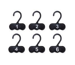 Numbered Fitting Room Checks - Black - 150 Count