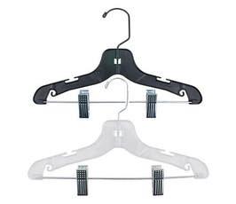 """Junior Size Super Heavy Weight Plastic Suit Hangers - 14"""""""