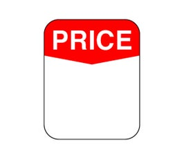 "Labels - Pressure Sensitive - ""Price"""