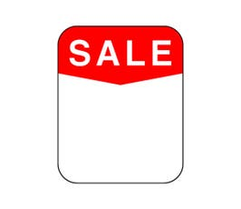 "Labels - Pressure Sensitive - ""Sale"""