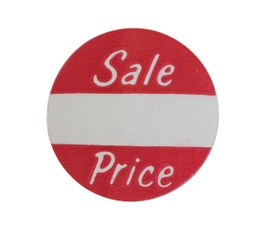 "Labels - Pressure Sensitive - ""Sale Price"""