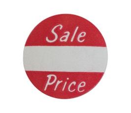 "Labels - Pressure Sensitive - ""Sale Price"""