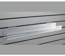 Acrylic Slatwall Video Shelf w/Tilt Back