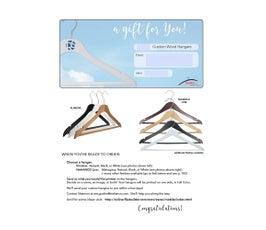 Gift Certificate for Adult Custom Hangers
