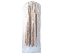 """Bridal Gown Garment Bag – Clear, 24"""" x 72"""""""