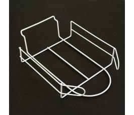 Slatwall Cap/Hat Wire Merchandiser, White