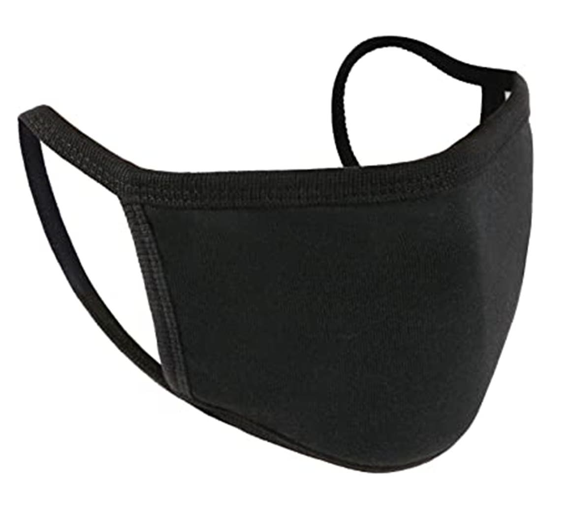 High Quality, Comfortable to Wear, Protective Cotton Face Masks, Available in 3 Sizes – Black