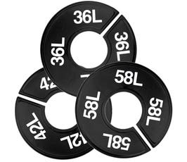 Plastic Size Dividers – Round Black, Imprinted Long Sizes: 35L - 58L