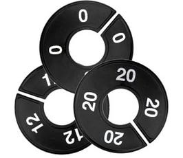 Plastic Size Dividers w/Larger Cut Out – Round Black, Imprinted Numerical Sizes: 0 - 44