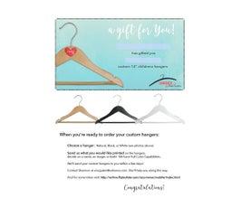 Gift Certificate for Childrens Custom Hangers