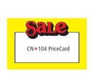 """Econo Cards - 3 1/2"""" x 5 1/2"""" - """"Sale"""""""