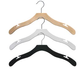 Contemporary Series Wooden Shirt Hanger with Notches