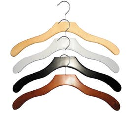 Contemporary Series Wooden Shirt Hanger - 50/CTN
