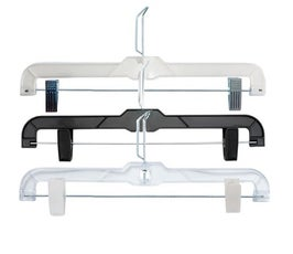 """Plastic Skirt/Pant Hangers with Clips and Coordinate Attachment - 14"""""""