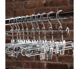 """Metal Diaper Pin Rod for Loop Hook Hangers, 14"""" - Chrome"""
