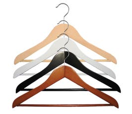 "Wooden Suit Hangers - ""Executive Series"" - 17"" - 25/CTN"