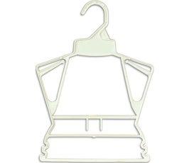 """Plastic Frame Hangers - Childrens - 9 1/2"""" White"""