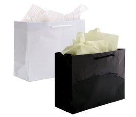 "Paper Bags - Gloss Eurototes - 16"" x 6"" x 12"""