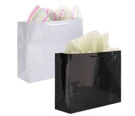 "Paper Bags - Gloss Eurototes - 20""x6""x16"""