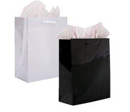 "Paper Bags - Gloss Eurototes - 8"" x 4"" x 10"""