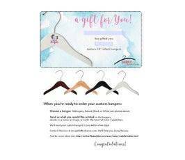 Gift Certificate for Infant Custom Hangers