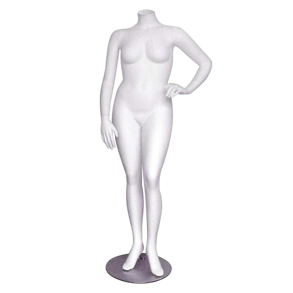 Mannequin – White Headless Female – Janet 1, Plus Size