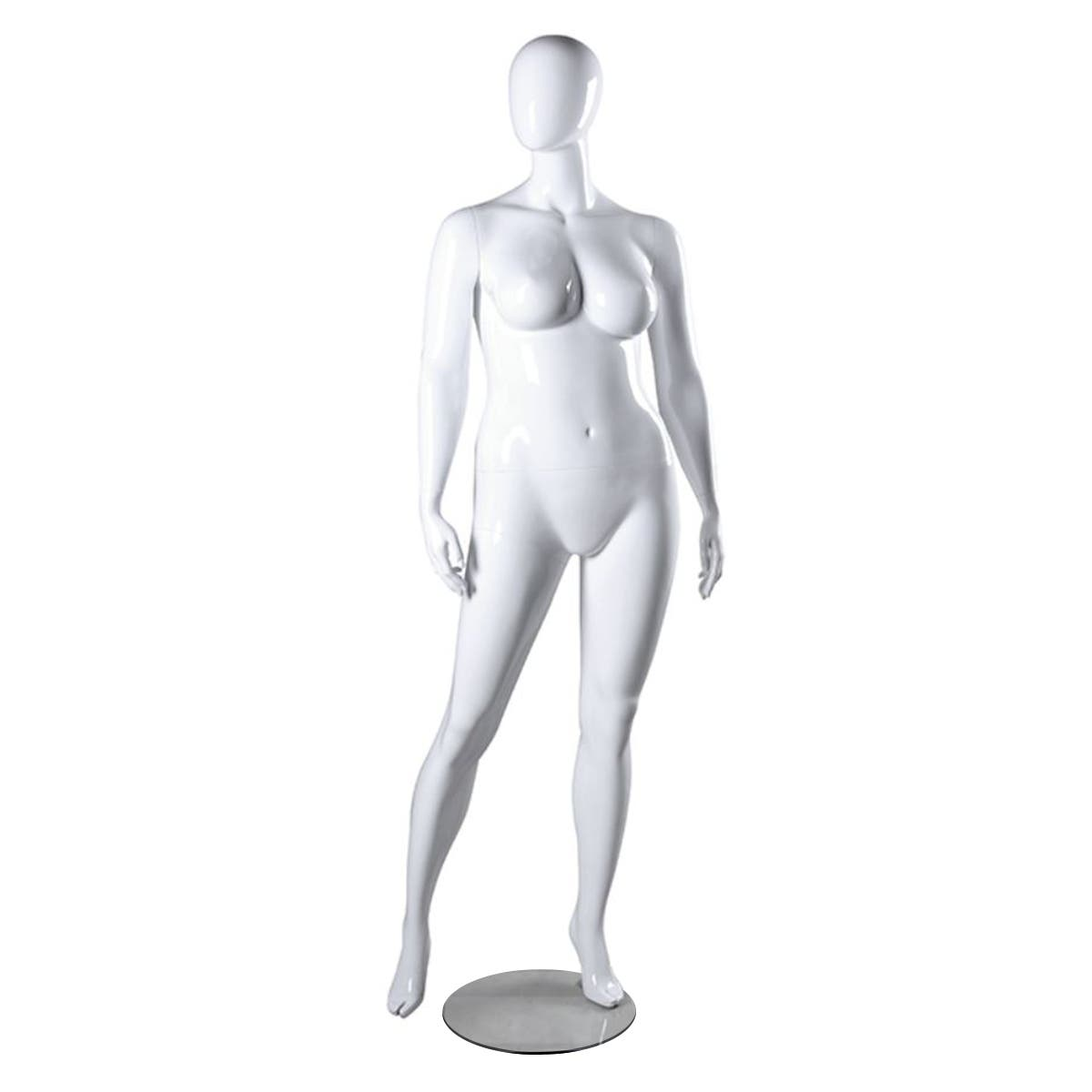 Mannequin – White Female, with Head – Janet 2, Plus Size