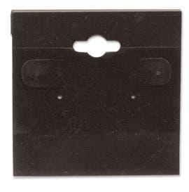 "2"" x 2"" Plastic Earring Cards, Black - 100/CTN."