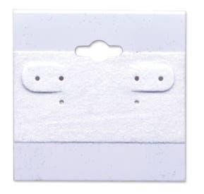 """2"""" x 2"""" Plastic Earring Cards, White - 100/CTN."""