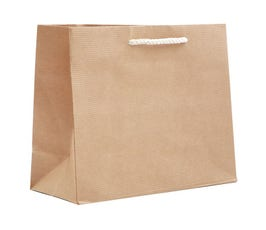 Paper Bags - Small Carnival Eurotote - Natural Kraft