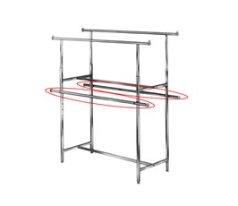 """60"""" Add-On Hangrails, Double Hanging for Clothing Racks Style K40 and K41 - 2/CTN."""