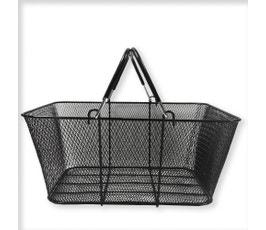 Large Mesh Shopping Baskets, Black - (Set of 6)