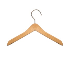 "Wooden Top Hangers - Mini - 6"" Natural finish"