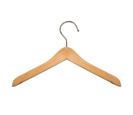 "Wooden Top Hangers - Mini - 8"" Natural finish"