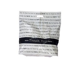 """Fold Over Die Cut Handle Thank You Bags-12""""x15"""""""