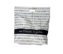 """Fold Over Die Cut Handle Thank You Bags-15""""x18"""""""