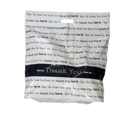 """Fold Over Die Cut Handle Thank You Bags-20""""x20"""""""